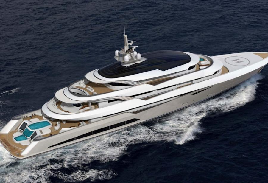 beiderbeck designs unveils 90m superyacht concept yacht harbour. Black Bedroom Furniture Sets. Home Design Ideas