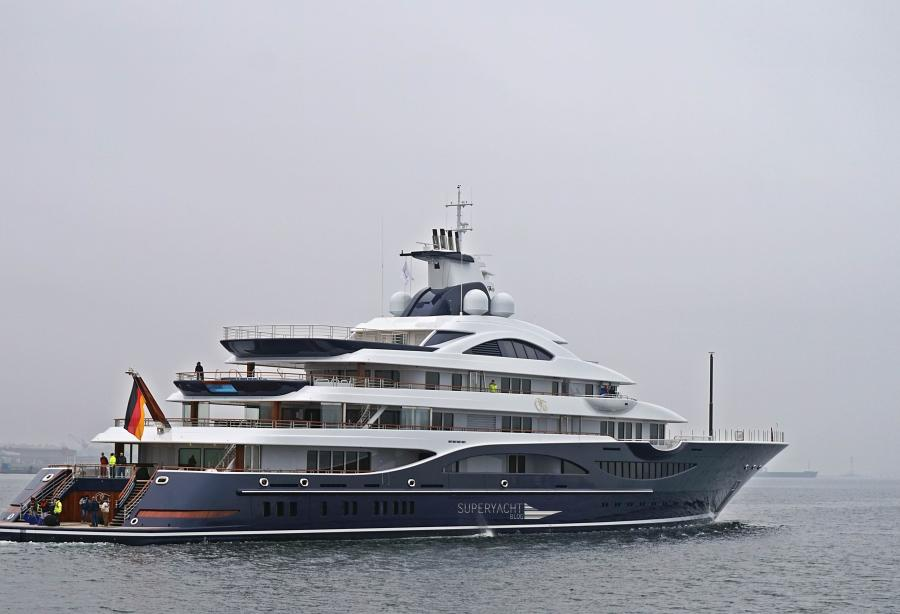 111-metre Project TIS by Lurssen heading to the Baltic sea