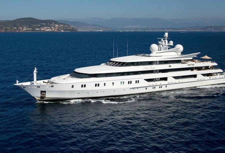 95-meter superyacht Indian Empress renamed NEOM after her
