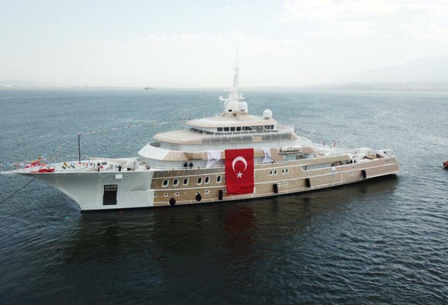 The 85m explorer Victorious Has Been Launched in Turkey