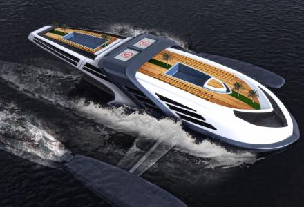 Whale-tail powered yacht concept introduced