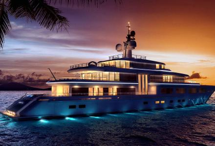 74m Project Barracuda under construction at Turquoise Yachts