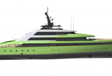 Sabdes Design presents 85m concept in refreshing colour