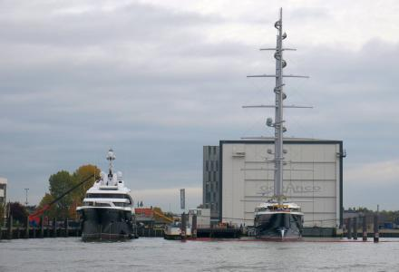 Oceanco Y715 and Y712 moored together