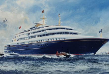 Andrew Winch unveils designs for Royal Yacht Britannia successor