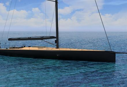 First Wally 93 sailing yacht in build