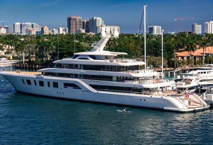 Feadship Aquarius spotted in Fort Lauderdale