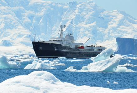 Icon Yachts icebreaking explorer Legend spotted in Antarctica