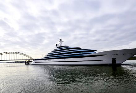 Holland's largest yacht launched at Oceanco