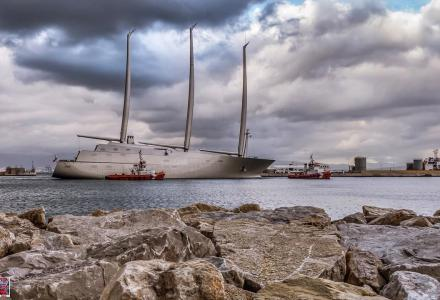S/Y A makes her debut in Gibraltar