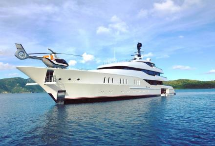 Feadship wraps a photoshoot of Vanish in the Virgin Islands