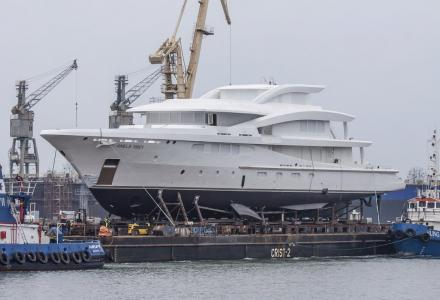 The first Amels hybrid yacht technically launched