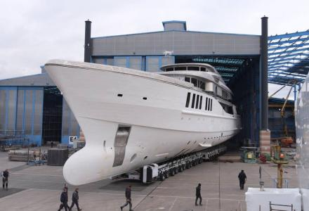 69m Benetti project Spectre taking shape