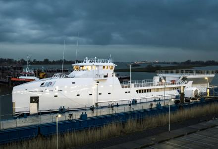 Damen launches 70m yacht support vessel Game Changer