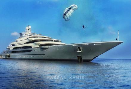 140m Ocean Victory spotted in Maldives