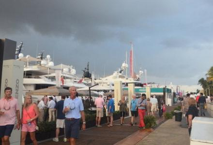 Different views of the Fort Lauderdale International Boat Show