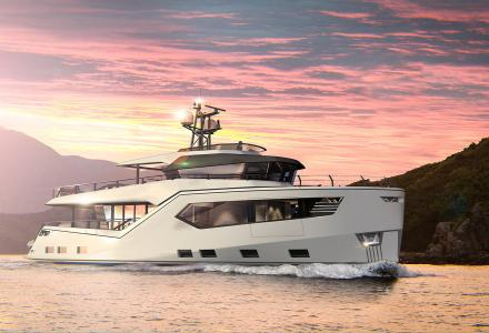 Explorer yacht Rock under construction at Evadne Yachts