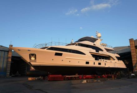 37m Lady Lillian makes a splash at Benetti