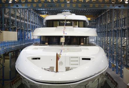 Feadship launch 73m Hasna for Australian owner