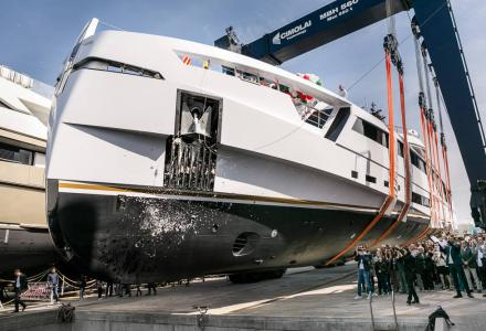 Rossinavi delivers superyacht Aurora