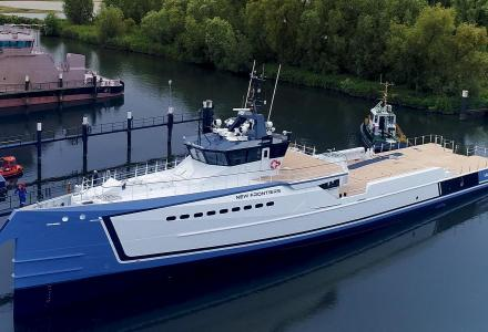 Damen launches yacht support vessel New Frontiers