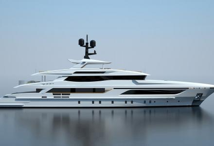 The construction of hull #10228 moves forward at Baglietto