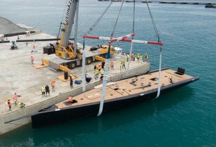 Wallycento yacht Tango launched at Persico Marine