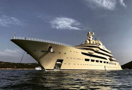 Dilbar spotted in Porto Cervo, Italy