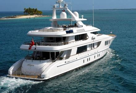 Allegria on display at the Fort Lauderdale Boat Show