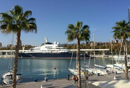 Microsoft co-founder docks megayacht in Malaga