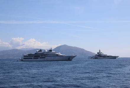 123m Al Lusail and 124m Katara spotted in Capri