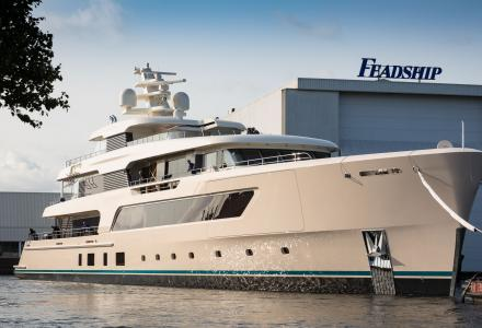 69m Feadship Samaya under sea trials