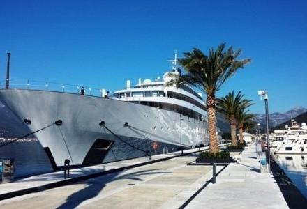 Golden Odyssey moored in Tivat