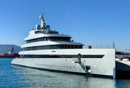 83.5m Feadship Savannah spotted in Gibraltar