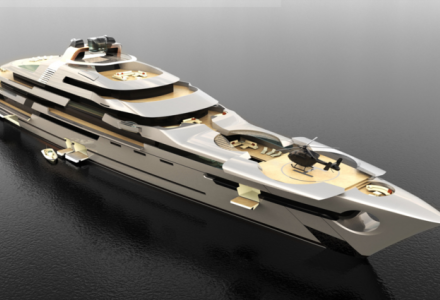 Black Pearl's designers introduce new 140 meter concept