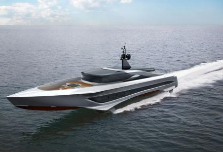 Russian Rocket is a 37-meter foiling superyacht