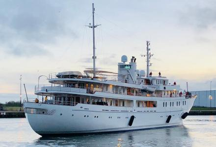 70-meter Sherakhan relaunched at Icon Yachts