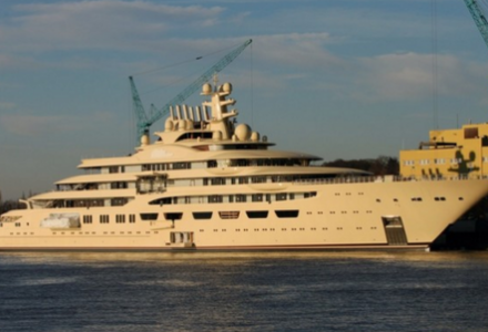 Dilbar by Lurssen spotted in Germany