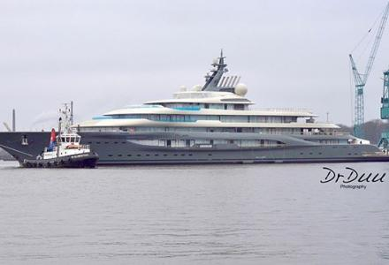 Lurssen float out new 130m+ Project Shu