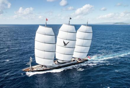 Inside the former largest sailing yacht in the world