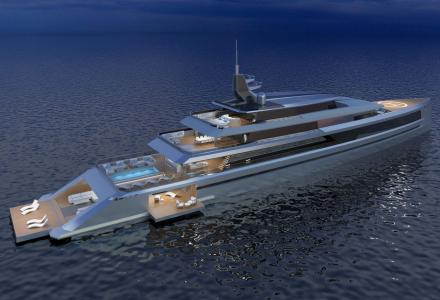 New 80m yacht concept Sunset