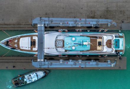 50-metre CRN superyacht launched and named Latona