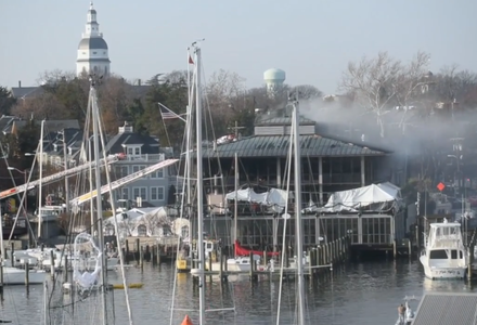 A major fire broke out at the Annapolis Yacht Club