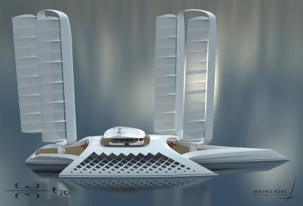 New 70-metre trimaran superyacht concept