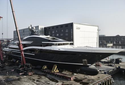 90m Oceanco Project Shark launched