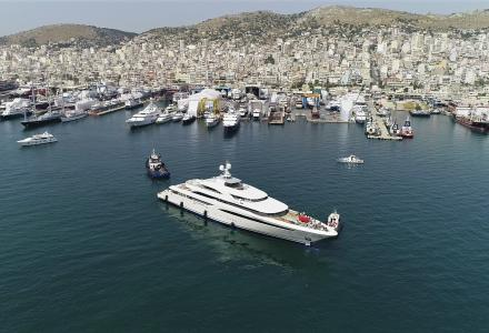 85-metre O'Ptasia launched in Greece