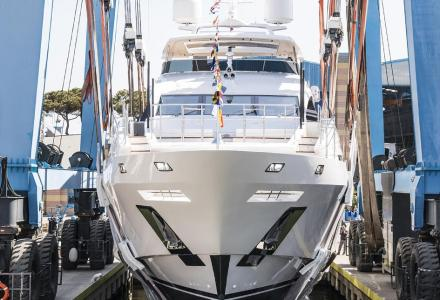 Sixth Benetti Fast 140 yacht launched - 42-metre Ironman