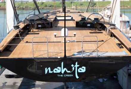 28-metre Wally 93 sailing yacht Nahita launched