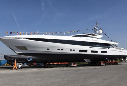 54-metre Mangusta Gransport yacht El Leon launched by Overmarine