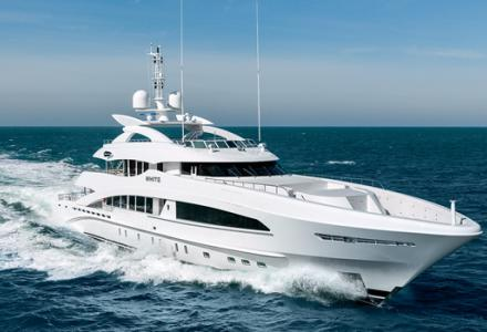 50-metre yacht White delivered by Heesen